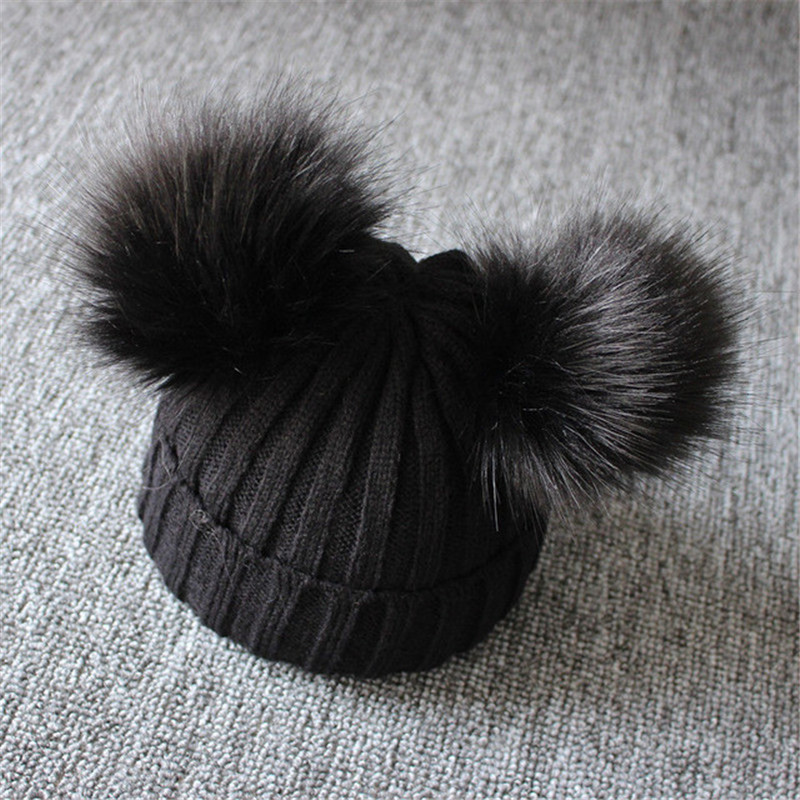 Winter-Warm-Baby-Hat-Double-Furry-Ball-Pompom-Children-s-Cap-Solid-Knit-Cap-For-Girls.jpg_640x640 (1)