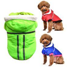 Одежда с принтом в виде собак зимние теплые Pet куртки для собак, щенков, одежда из толстой ткани толстовки для малых и средних собак Щенок нар...