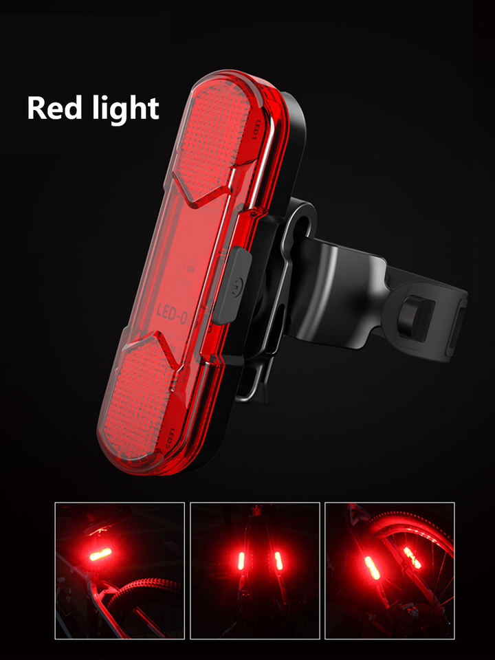 Bicycle Taillight Headlight LED Set Safety Waterproof Portable Lights/_Mu