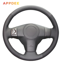 Black Artificial Leather Car Steering Wheel Cover for Toyota Yaris Vios RAV4 2006-2009 Scion XB 2008