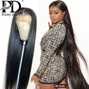 28 30 Inch Brazilian Straight 13x4 Lace Front Human Hair Wigs Pre Plucked With Baby Hair 180 Density Long 360 Lace Frontal Wig(China)