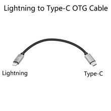 Lightning to Type C OTG Cable for Shanling M2X M5s Up4 M0,xd 05 plus,NX4 DS,Fiio BTR5 3 iPhone 11 XS Max, XR, XS 8Plus, iPad Pro