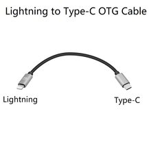 Cable Lightning a tipo-c OTG para Shanling M2X M5s Up4 M0,xd-05 plus,NX4 DS,Fiio BTR5 3 iPhone 11 XS Max, XR, XS 8Plus, iPad Pro(China)