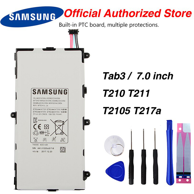 Original Samsung <font><b>T4000E</b></font> Tablet Battery For Samsung GALAXY Tab3 7.0 T210 T211 T2105 T217a 4000mAh image