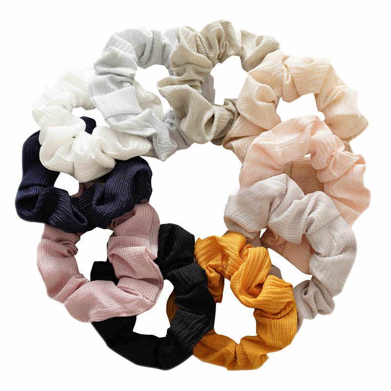 2019 New Women Wrinkle/Velvet Scrunchie Elastic Hair Bands Korean Hair Rope Ponytail Holder Girls Hair Ties Accessories Headwear