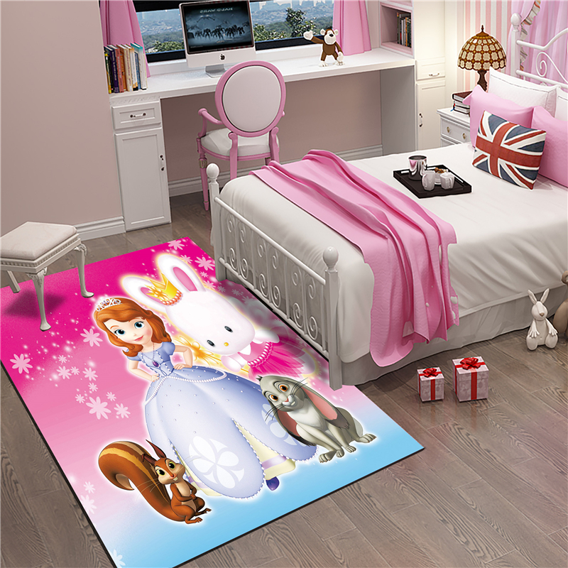 Princess Sofia Mat Bathroom Child Boy Girl Carpet Hallway Doormat Anti - Slip Bathroom Carpet Absorb Water Kitchen Mat/Rug