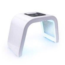 7 renk LED yüz foton ışık tedavisi PDT lamba güzellik cilt makinesi arıtma rejenerasyonu yüz sıkın Anti aging akne sökücü