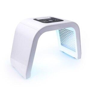 Image 1 - 7 renk LED yüz foton ışık tedavisi PDT lamba güzellik cilt makinesi arıtma rejenerasyonu yüz sıkın Anti aging akne sökücü