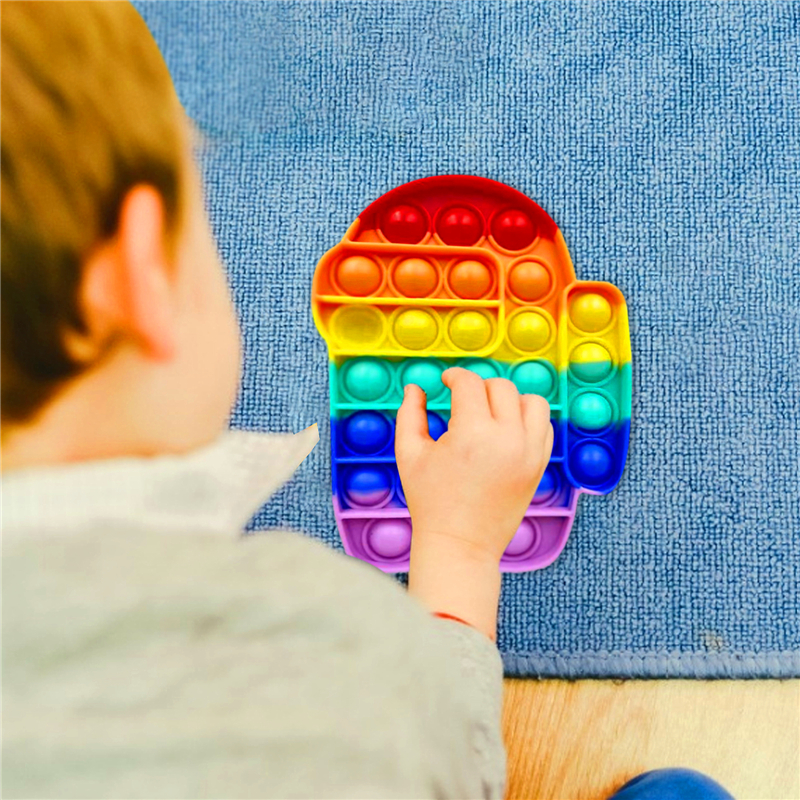 Toy Bubble Fidget-It-Stress Squish Pops Funny Us-Sensory Among Child Needs Reliver Adult img3