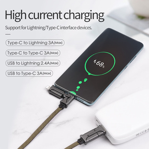 Image 4 - HOCO 4in1 USB Type C Cable 60W Metal PD Fast Charger Cable USB C to Type C Wire for Samsung Xiaomi iPhone11 MacBook Pro Air iPad