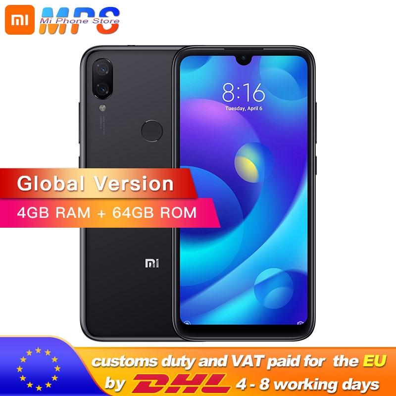 Купить Глобальная версия Xiaomi Mi Play 4 GB 64 GB телефон MTK Helio P35 Восьмиядерный двойной 12MP + 2MP AI Камера 5,84