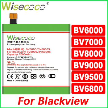 WISECOCO Battery For Blackview BV6000 BV6800 BV7000 BV8000 BV9000 Phone Latest Production High Quality New Battery+Tracking Code wisecoco bv9000 2pcs 7150mah new produced battery for blackview bv9000 bv 9000 pro high quality phone battery replace tracking
