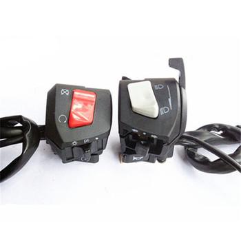 22MM sterowanie kontrolerem moto rbike wielofunkcyjne profesjonalne akcesoria moto przełączniki moto rbike uniwersalny przełącznik moto rcycle tanie i dobre opinie 0inch 3-SW-43 plastic switch Motocykl przełączniki