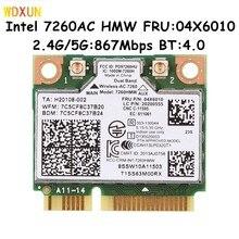 Banda dupla sem fio para intel 7260 7260hmw 802.11ac mini pci-e wifi bt4.0 cartão 867m para lenovo ibm thinkpad fru: 04x6090 04x6010