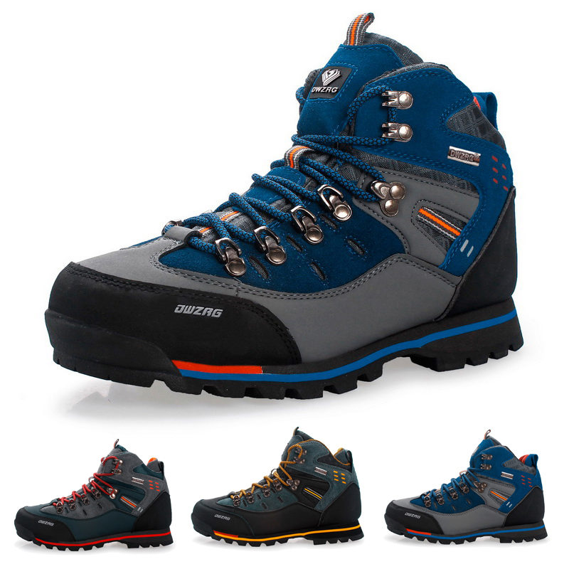 Waterproof Hiking Shoes Outdoor Suede Breathable Trekking Shoes Mountain Climbing Boots Anti-Slip Sneakers Size 40-46