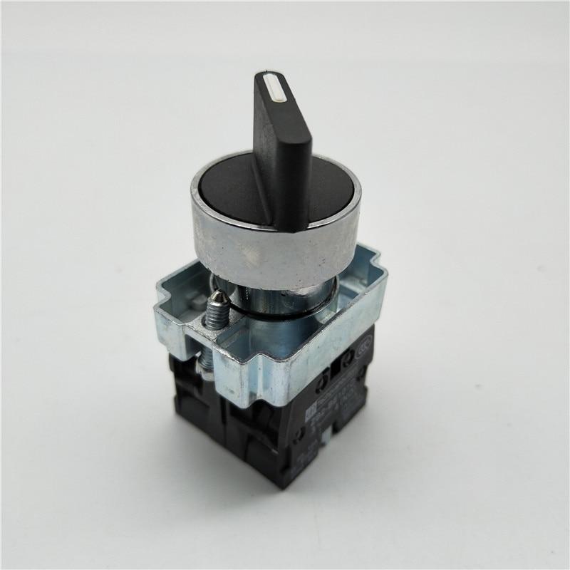 22mm XB2-BD21 XB2-BD33 XB2-BD53 2/3 Position NO NC Maintained Select Selector Switch Replaces Tele Schneider Telemecanique