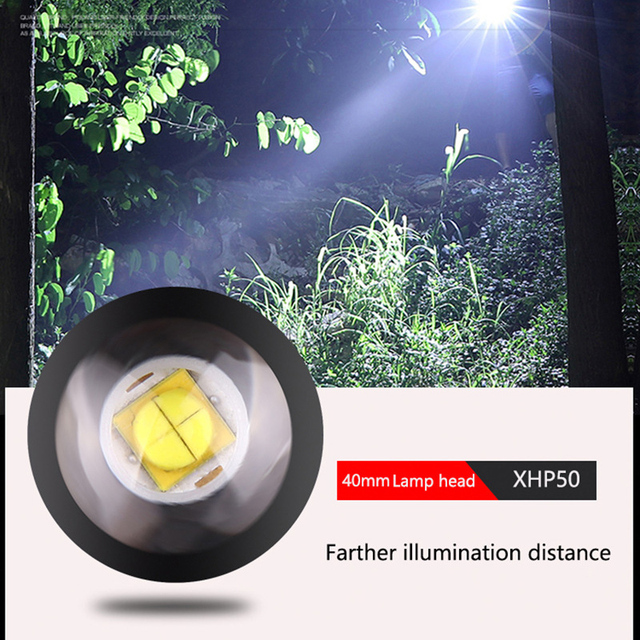 Super Powerful LED Flashlight XHP50 Zoomable Handlamp Waterproof torch USB rechargeable Ultra Bright Lantern for camping hunting 3