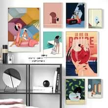 Домашняя девушка спальня настенный Декор мультфильм купальник
