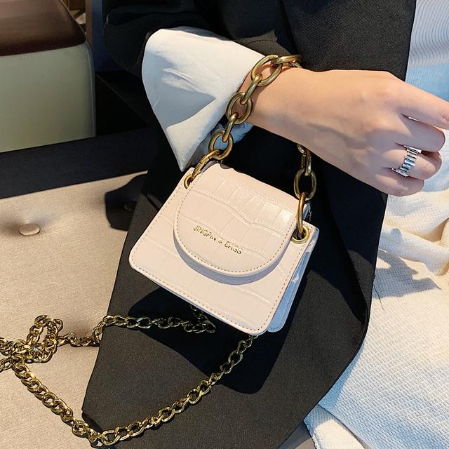 NEW Stone Pattern Women Handbag Designer Ladies Fashion Chain Messenger Shoulder Bag Chic Ins Evening Party Clutch and Purse