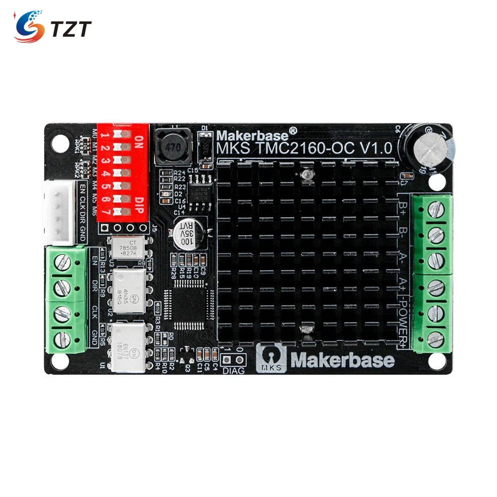 TZT MKS TMC2160-OC Motor Driver Ultra-Quiet 3D Printer Drive Module Board 4.33A High Current Low Heat