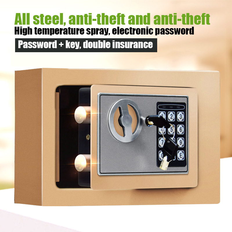 Golden Security Quality 5A All Steel Anti-theft Home Small Mini Electronic Password Office Safes Property Security Protection