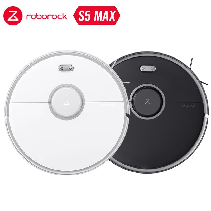 Roborock s5 max robô aspirador de pó wi fi controle app varredura automática poeira inteligente planejado lavar esfregar atualização s50 s55