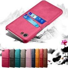 Coque en cuir PU avec porte-cartes, pour Blackberry KEYone Key 2 DTEK 50 60