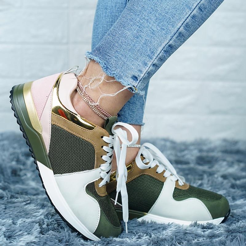 Women Sneaker 2020 Autumn Women Shoes Platform Casual Sport Shoes Breathable Running Walking Trainers Ladies Chunky Sneakers|Women's Vulcanize Shoes| - AliExpress