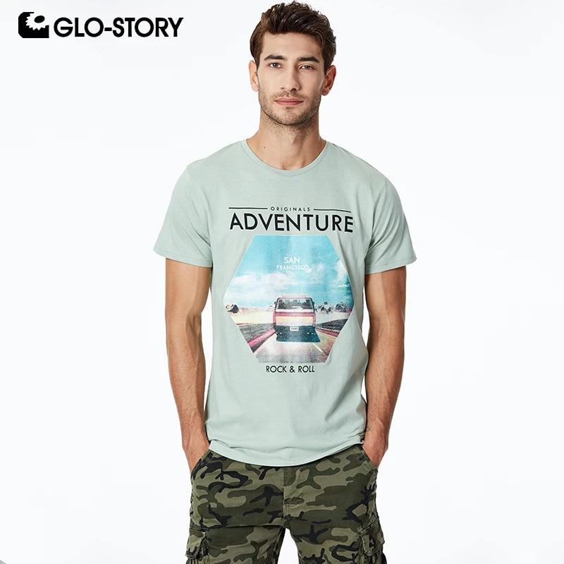Glo Story Men S 2020 Basic O Neck Rock Fashion Print Tee Shirts Men Casual Streetwear Summer Short Sleeve T Shirt Tops Mpo 8636 T Shirts Aliexpress