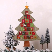 Christmas Santa Claus Calendar Creative calendar Xmas Advent Calendar New Year 2020 Christmas Decoration For Home Navidad Natal все цены