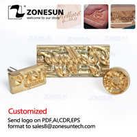 ZONESUN Custom Logo Copper Brass Stamp Wood Leather Cliche Bread Skin Die Heating Emboss Mold Brand Iron Letter Metal Stamp
