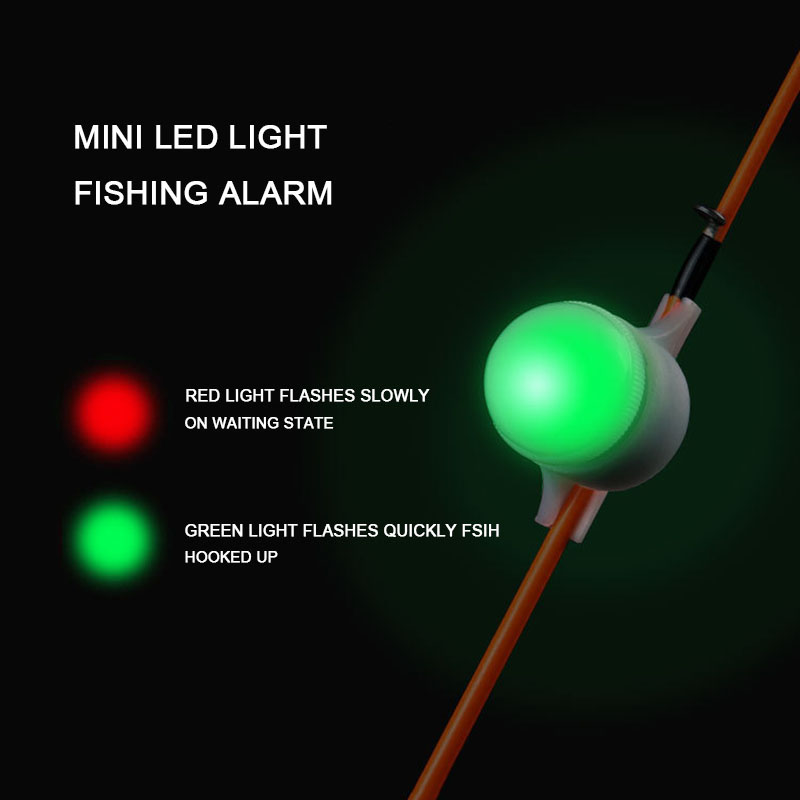 Mini LED Light Automatic Induction Fishing Alarm Rod Tip Carp Night Fishing Light Auto Recognition Bite Alarm With 1pcs Battery