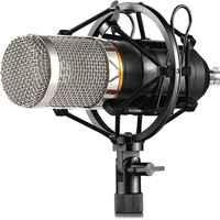 Profesional Kit de micrófono con condensador BM800 para Podcast juego de Video de YouTube montaje de choque Cable de alimentación estudio teléfono micrófono para ordenador