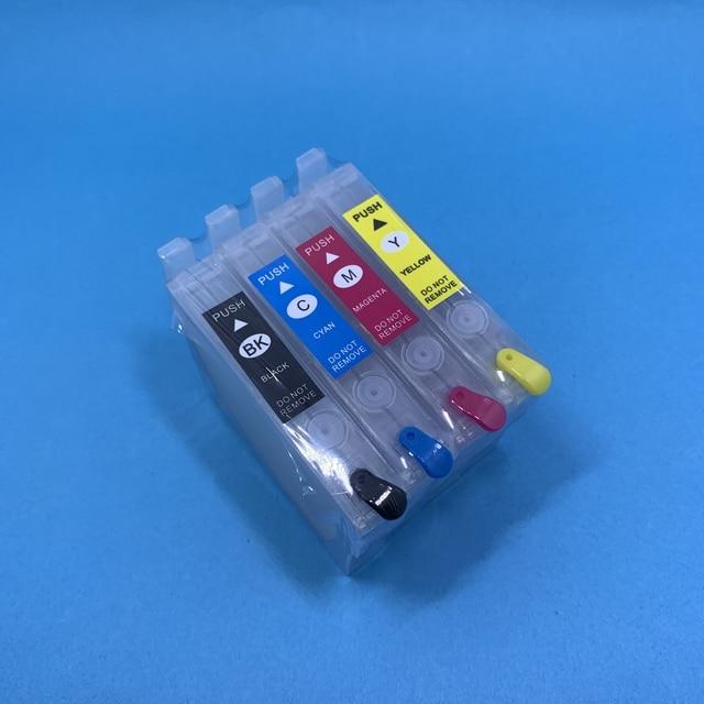YOTAT Rechargeable T0711 T0712 T0713 T0714 cartouche dencre pour Epson DX4000 DX4050 DX4400 DX4450 DX5000 DX5050 DX6000 DX6050 DX7000F