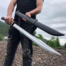 Épée de combat en plein air, lame en acier à haute teneur en manganèse, très tranchante, pour la chasse