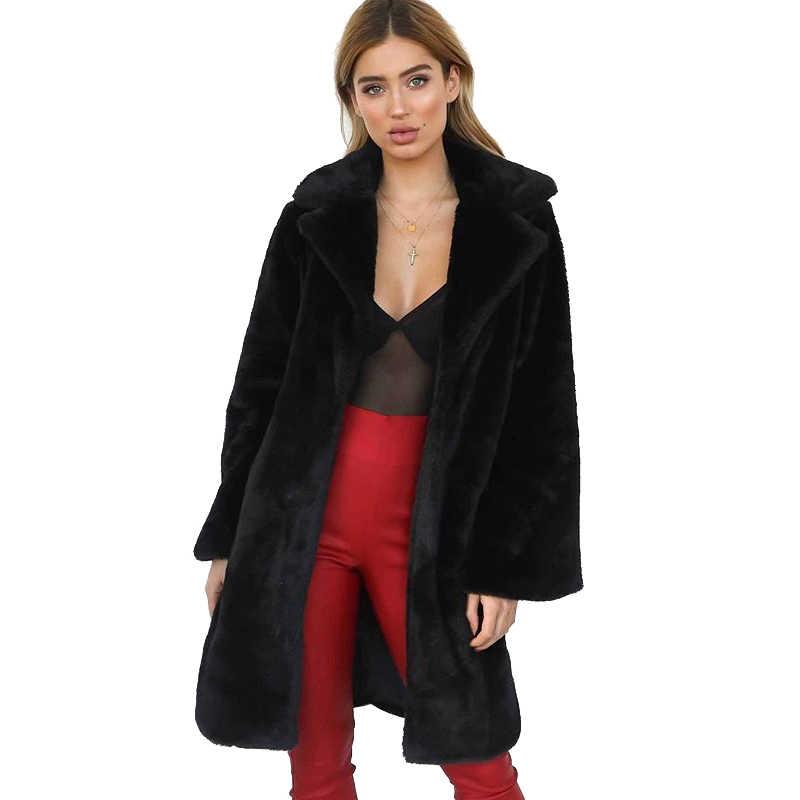 クリアランス女性の冬のレックスウサギの毛皮ロングジャケットコート