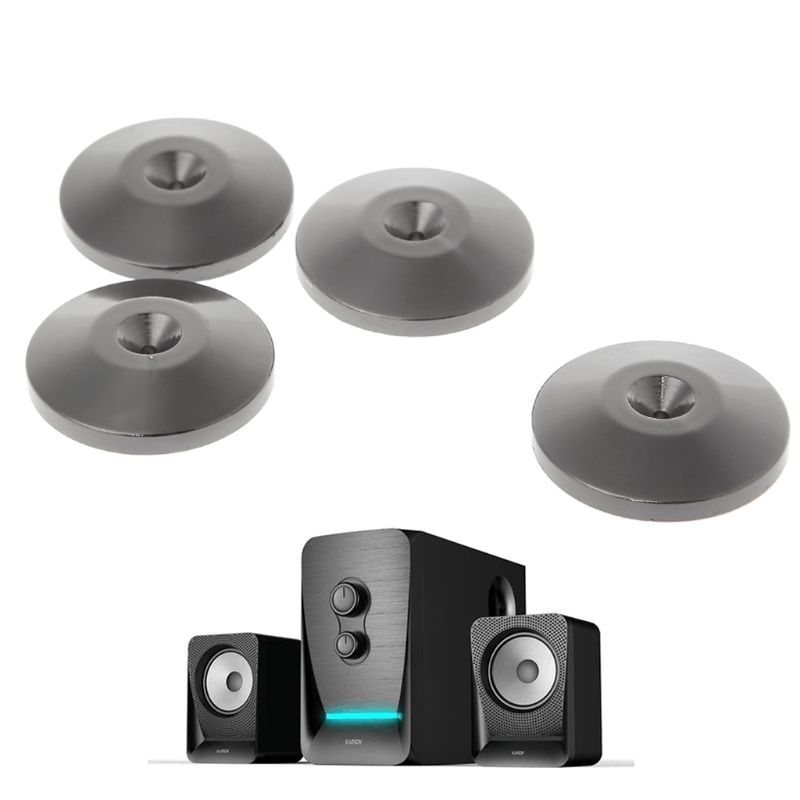 4 Pcs Isolation Spike Stand Feet Pad Speaker Amplifier Nickel Plated Cone Base