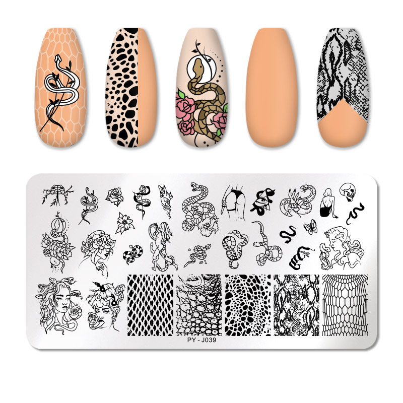PICT YOU 12*6cm Nail Art Templates Stamping Plate Design Flower Animal Glass Temperature Lace Stamp Templates Plates Image 60