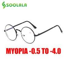 Soolala таможенный сплав Круглые Женские Рецептурные очки для
