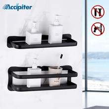 Prateleira do banheiro de alumínio prateleiras do banheiro montagem na parede prateleira do banheiro cozinha rack armazenamento fácil instalar