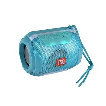 TG162-altavoz pequeño con Bluetooth y luz LED, Mini altavoz portátil estéreo de...