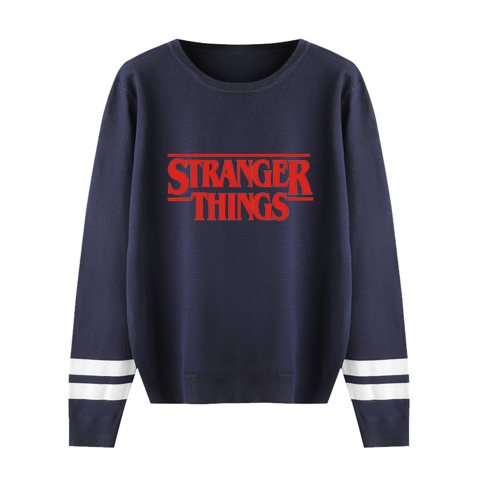 Stranger Things Capless Hoody Men/women Hot Fashion Print Autumn Winter Long Sleeve Warm Casual Knitted Casual Sweater Tops