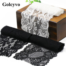 1Meter Black White Elasticity Lace Trims Ribbon Skirt Colthing DIY Sewing Crafts Charms