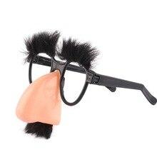 Halloween Decoration Big Nose Funny Glasses Nose Hair Eyebrows Scholar Funny Deception Fool Props