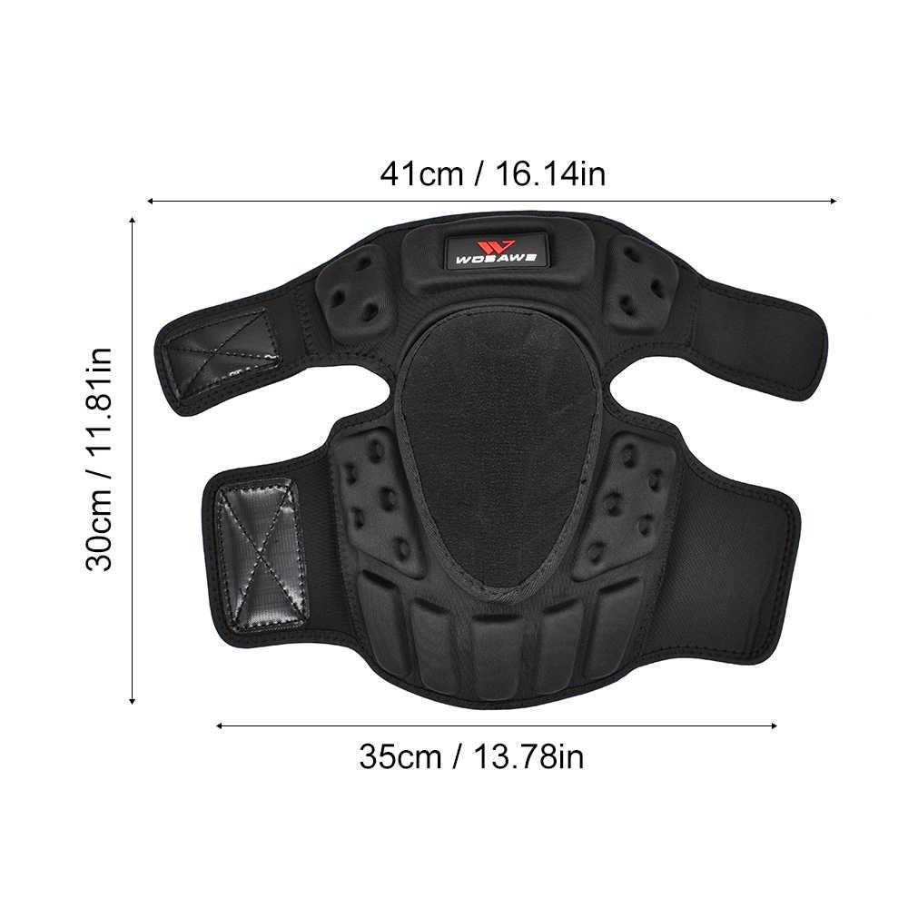WOSAWE Motocross genouillères coude protecteur motos moto hors route course équipement de protection ski planche à roulettes garde