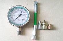 Testeur haute pression à rampe commune 0 250Mpa pour circuit dhuile diesel, piston à rampe commune, jauge de test de pression de tuyau à rampe commune