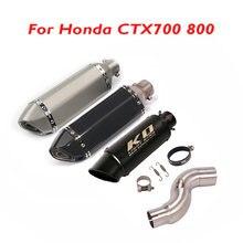 Sistema de Exaustão da motocicleta Silenciador do Escape Conexão Oriente Médio Tubo de Ligação Slip on CTX700 800 para Honda Moto