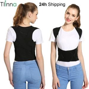Tlinna Back Posture Corrector Therapy Corset Spine Support Belt Lumbar Back Posture Correction Bandage For Men Women(China)
