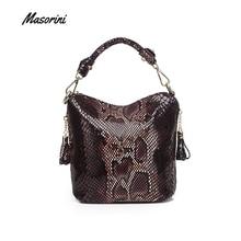 Sacs à main en cuir PU pour femmes, sacs à bandoulière de luxe mode, sacoche grande capacité motif de serpent