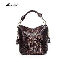 Umhängetaschen für Frauen PU Leder Handtaschen Luxus Mode Handtasche Frauen Schulter Tasche Große Kapazität Schlangen Muster